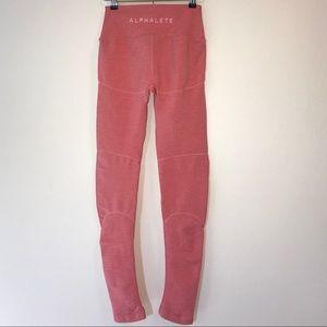 Alphalete Coral Pink Revival Leggings Medium
